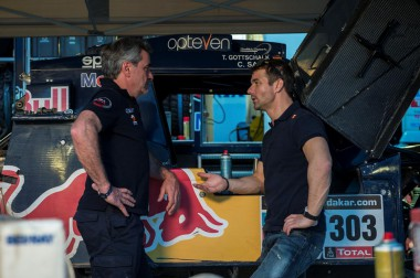 Sebastien Loeb visits Dakar bivouac in Salta, Argentina on January 10th, 2014