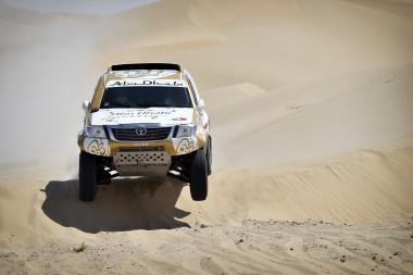 Sheikh Khaled Al Qassimi in action - leg 1