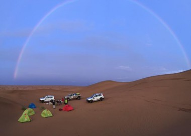 Camping out on the recce for the China Silk Road Rally.