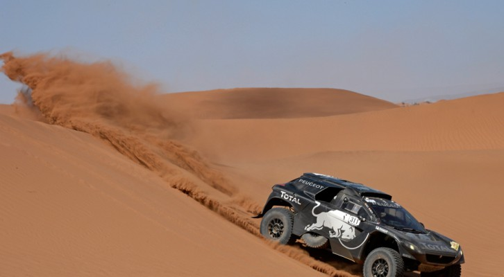 The new PEUGEOT 2008 DKR16 claimed its maiden stage win today in the hands of Carlos Sainz and Lucas Cruz.