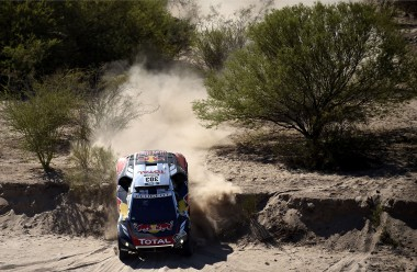 303 SAINZ Carlos (spa) CRUZ Lucas (spa) PEUGEOT action during the Dakar 2016 Argentina,  Bolivia, Etape 9 / Stage 9, Belen - Belen,  from  January 12, 2016 - Photo DPPI