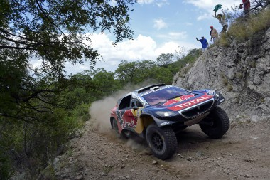 314 LOEB Sebastien ELENA Daniel (fra) PEUGEOT action during the Dakar 2016 Argentina,  Bolivia, Etape 12 / Stage 12,  San Juan - Villa Carlos Paz,  from  January 15, 2016 - Photo Eric Vargiolu / DPPI