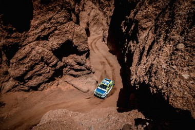 Daniel Mas Valdes guides his Ford Ranger through stunning terrain in Argentina.