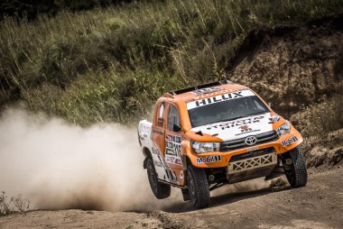 Frenchman Ronan Chabot in his new Overdrive Toyota Hilux.