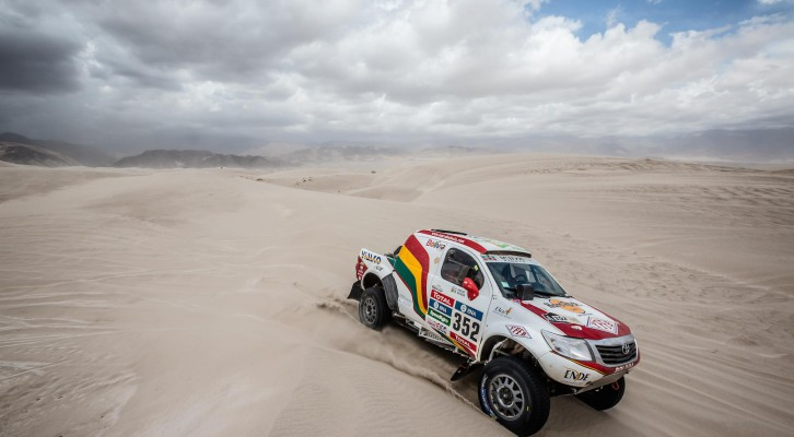 MARCO BULACIA AND PETER JERIE STEER THEIR SOUTH RACING TOYOTA HILUXES SAFELY TO FINISH OF PUNISHING DAKAR RALLY IN ROSARIO