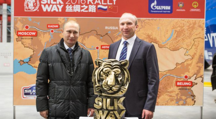Vladimir Poutine wishes success to the Silk Way Rally 2016